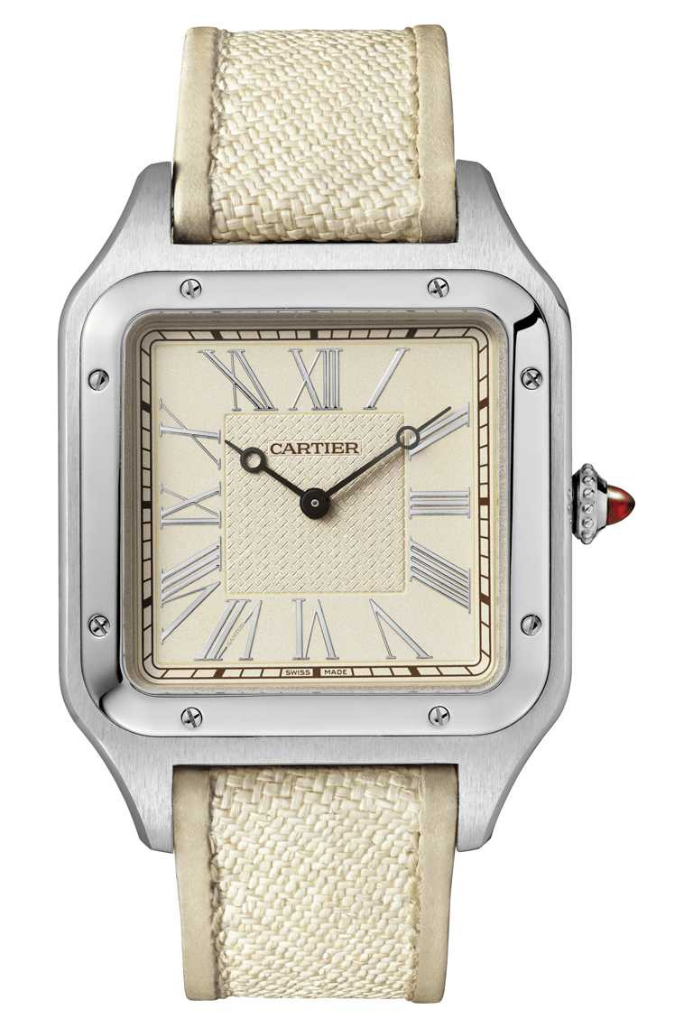 CARTIER「Santos-Dumont系列」腕錶,「La Demoiselle」錶款,鉑金錶殼,錶徑46mm,限量30只╱含禮盒1,340,000元(圖╱CARTIER提供)
