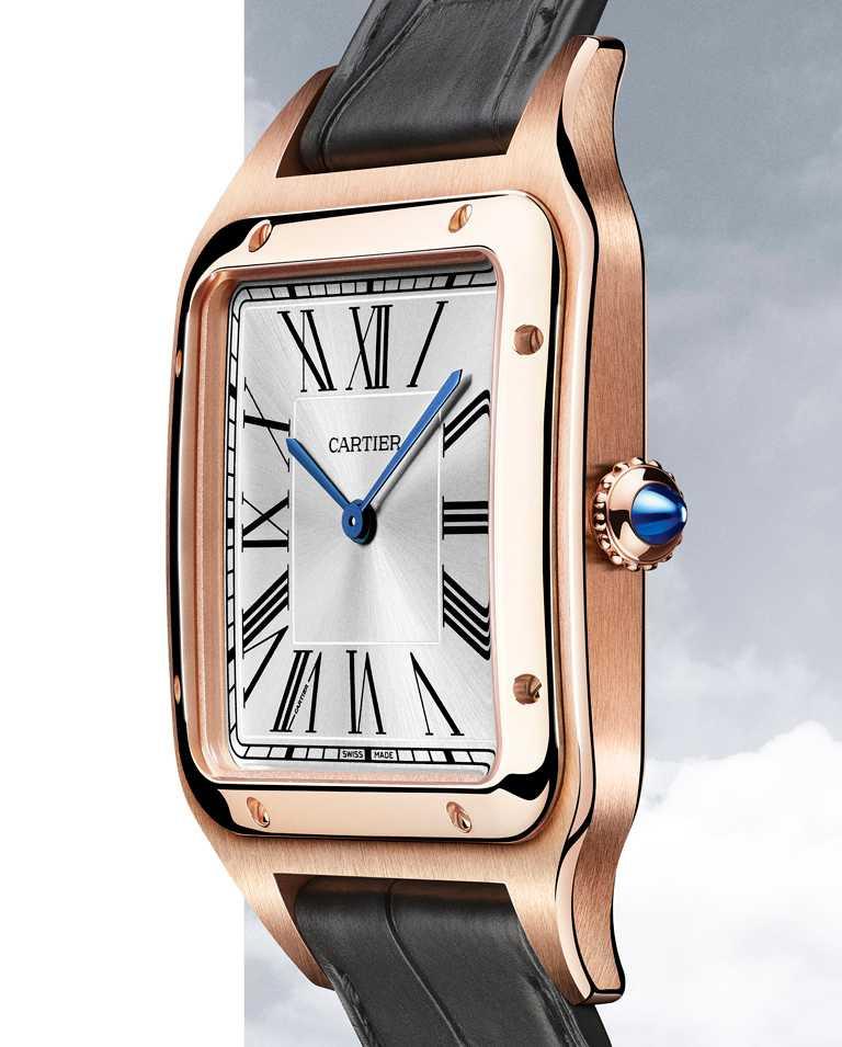 CARTIER「Santos-Dumont XL系列」腕錶,玫瑰K金錶殼,錶徑46mm╱478,000元。(圖╱CARTIER提供)