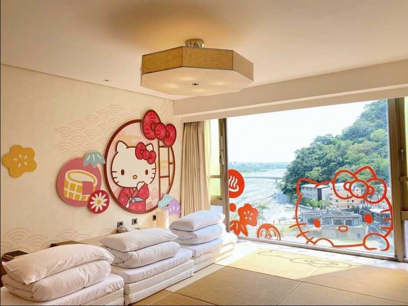 入住「Hello Kitty主題房」,與Kitty一同漫遊知本。(圖片提供/台東知本金聯世紀酒店)