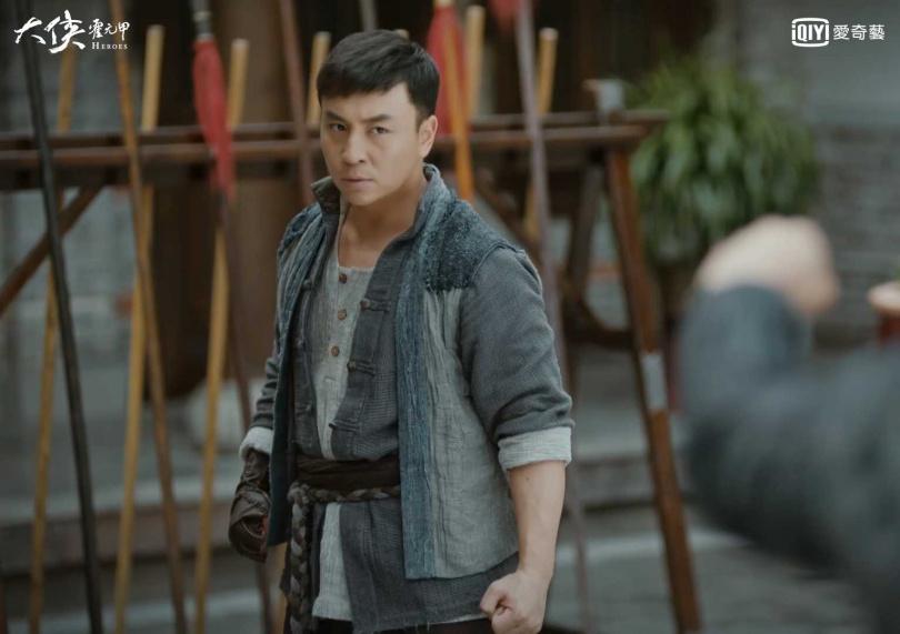 釋小龍在新戲《大俠霍元甲》中一出場即喊要打死霍元甲。(圖/愛奇藝台灣站提供)