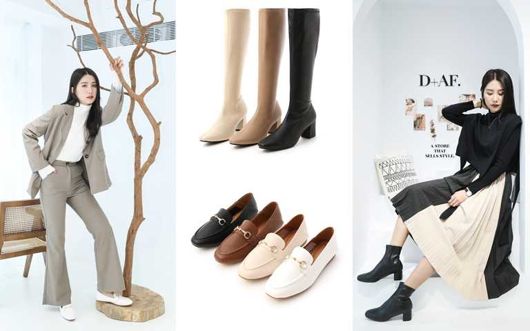 品牌本季最熱賣的靴款與樂福鞋,打造都會女子的時髦新面貌。(圖/品牌提供)