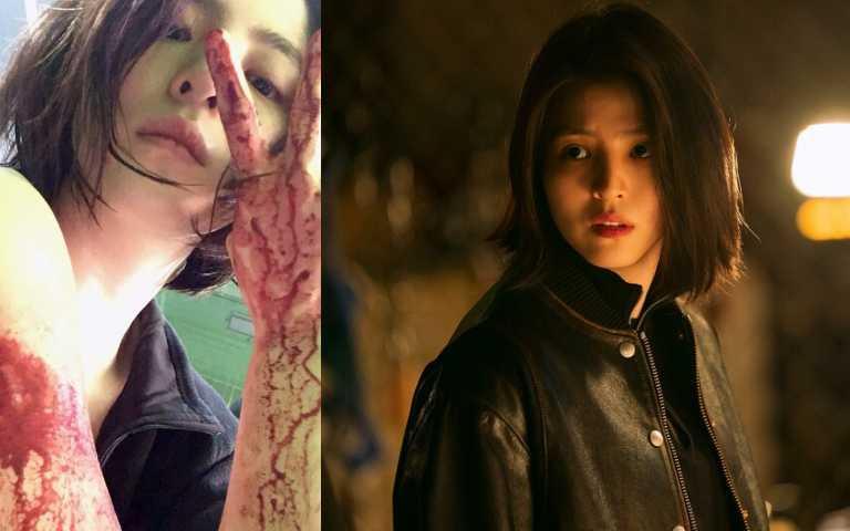 《以吾之名》釋出預告片,劇中韓韶禧剪了俐落短髮。(圖/ig、翻攝自網路)
