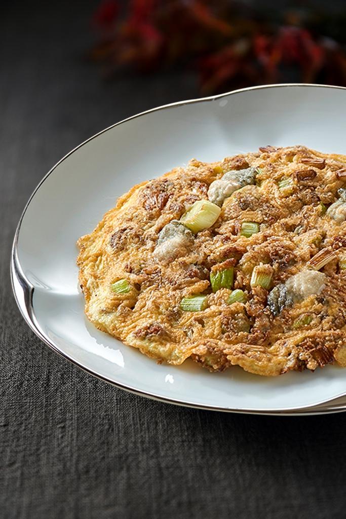 「週遊美福」料理客座—米香台菜:台味鮮蚵煎。(圖/台北美福大飯店提供)