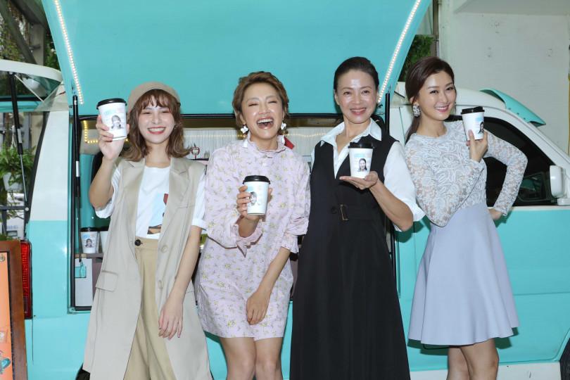 劉宇珊、張允曦(小8)、柯淑勤、陳珮騏出席《姊妹們 追吧》記者會。(攝影/施岳呈)