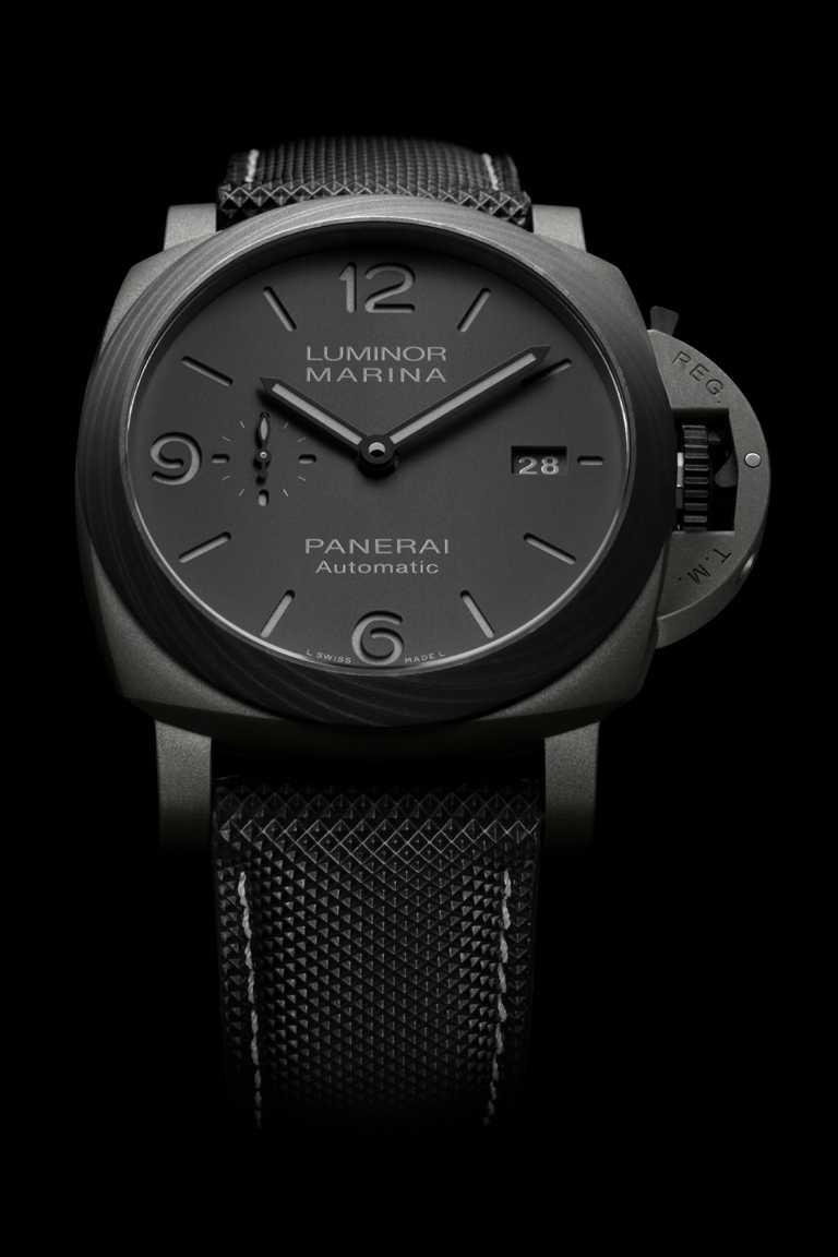 PANERAI「LUMINOR MARINA DMLS」鈦金屬腕錶,Goldtech鈦金屬錶殼,錶徑44mm╱473,000元。(圖╱PANERAI提供)