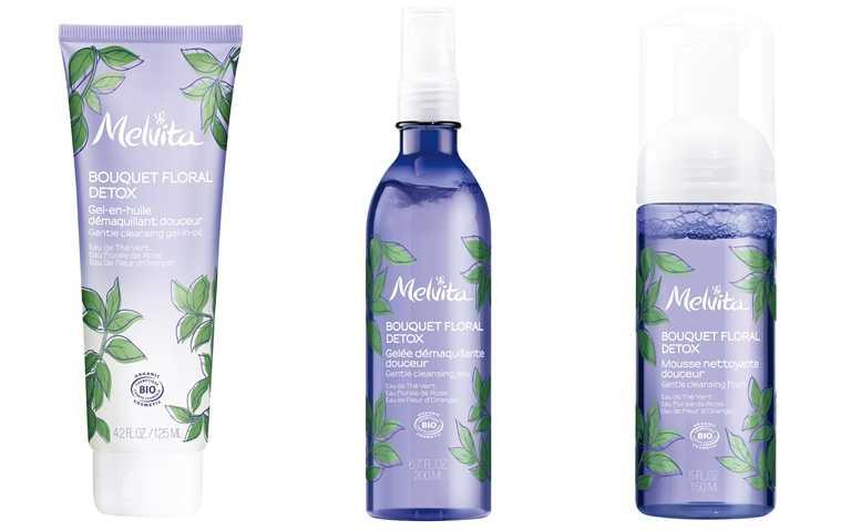 Melvita全新推出的「花姸防護潔面」系列,包含花妍防護卸妝凝膠、花妍防護潔面凝膠、花妍防護潔面慕斯,都是以嚴選三大天然花水*益菌生,再加上無皂鹼、不含Paraben類防腐劑,是非常溫和有效的潔淨配方。(圖/品牌提供)
