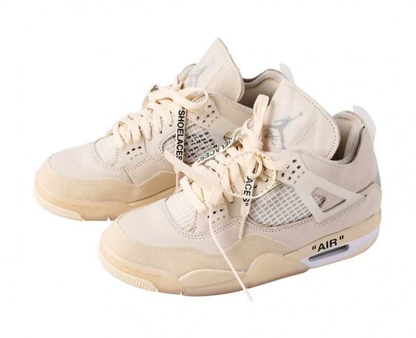 Air Jordan 4 × Off-WhiteSAIL/價格店洽蔡黃汝為「富邦悍將」開球時穿上它,最後球隊打贏,堪稱是一雙「幸運鞋」。