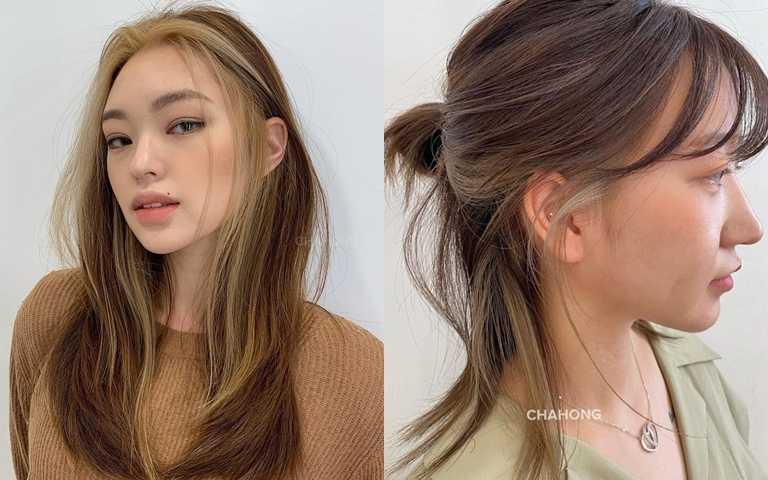 利用漸層變化擺脫金髮=台妹的刻板印象。(圖/IG@chahong_official)