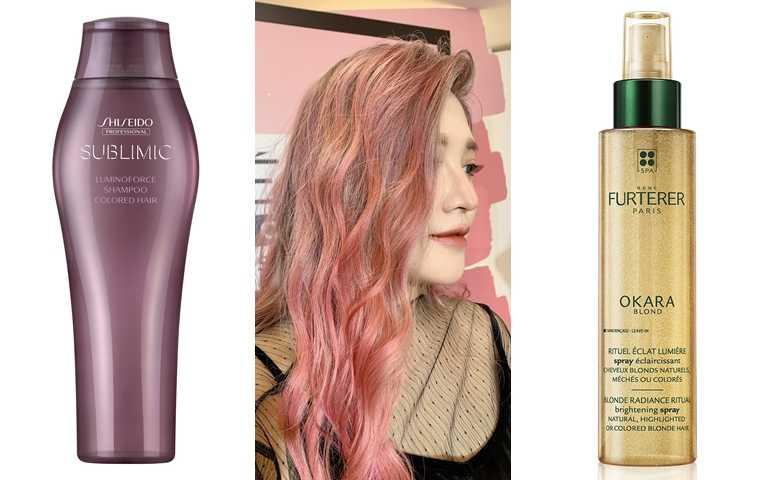 推薦可使用這些髮品>>SHISEIDO PROFESSIONAL極光綻色洗髮露 250ml/900元、Rene Furterer OKARA雲母聚光精華 150ml/1,380元(圖/吳雅鈴攝、品牌提供)
