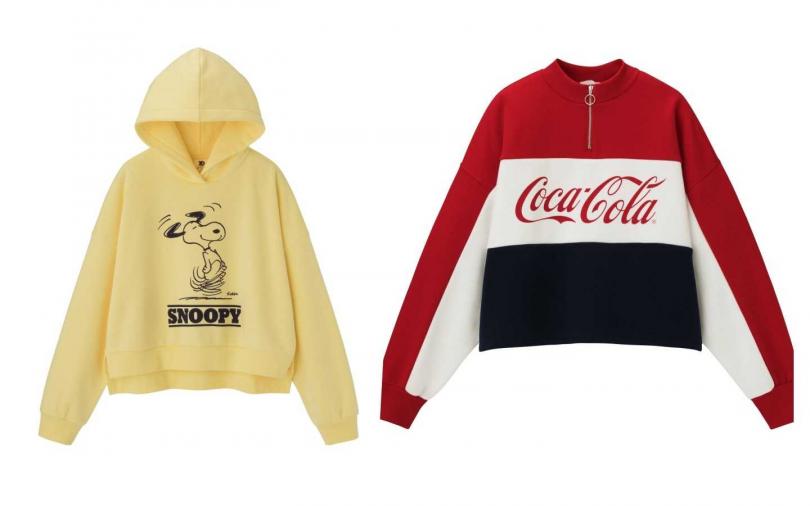 GU明年將推出與Coca-Cola可口可樂、Sanrio三麗鷗的聯名款系列(圖/品牌提供)