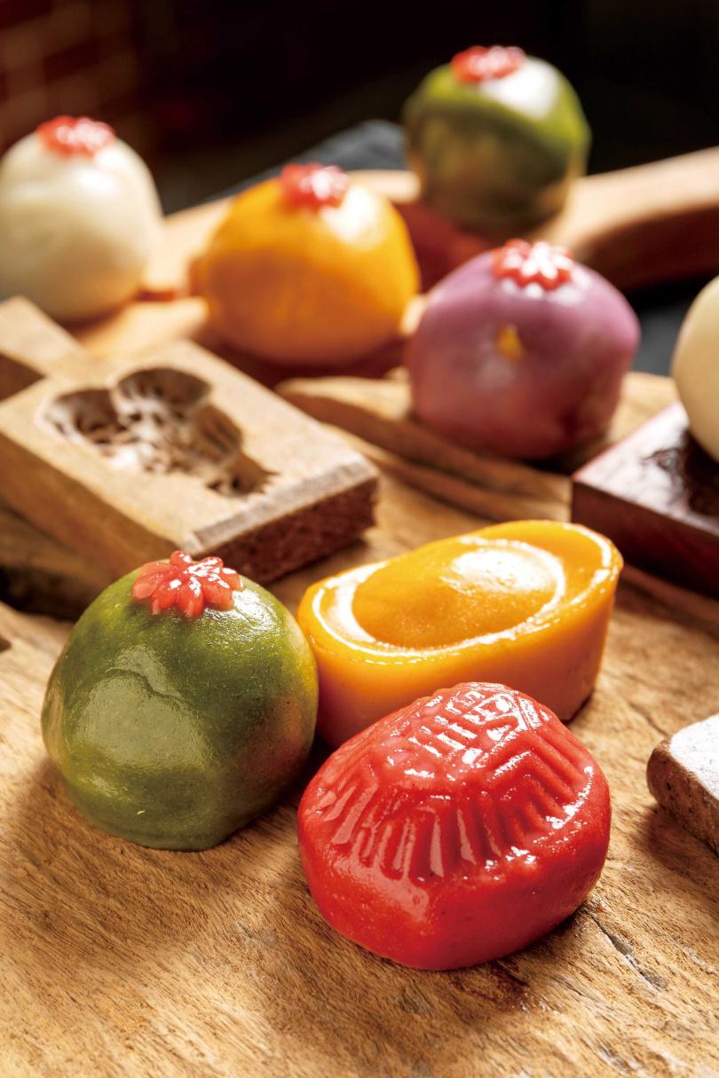 發想自日式和菓子的「台味米果子」,精緻小巧的模樣十分討喜。(攝影/焦正德)