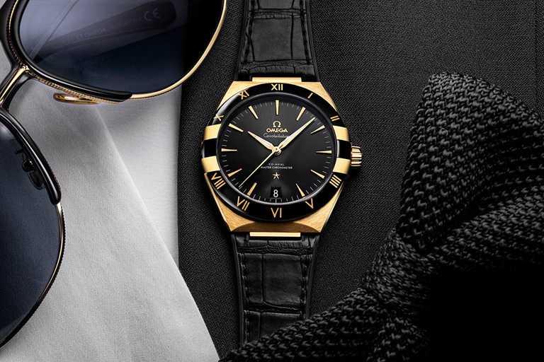 OMEGA「Constellation星座系列」同軸擒縱大師天文台腕錶,不鏽鋼與18K Sedna金錶殼,41mm╱667,800元。(圖╱OMEGA提供)