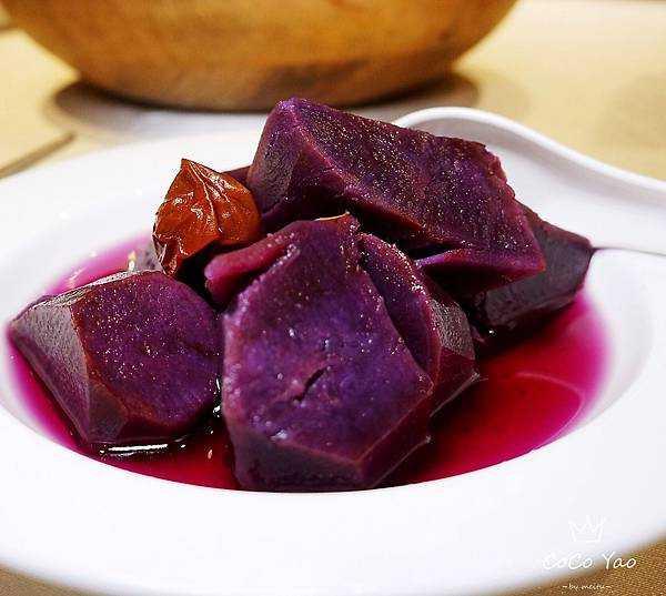 紫蘇梅桂花芋頭地瓜。(圖/點水樓提供)