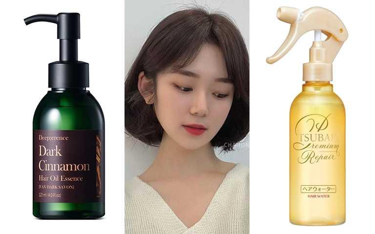 推薦使用的髮品是這些>>Deep;erence絲緞頂級黑肉桂護髮油 120ml/1,090元、TSUBAKI瞬亮修護護髮霧 220ml/280元(圖/品牌提供、IG@chahong_official)