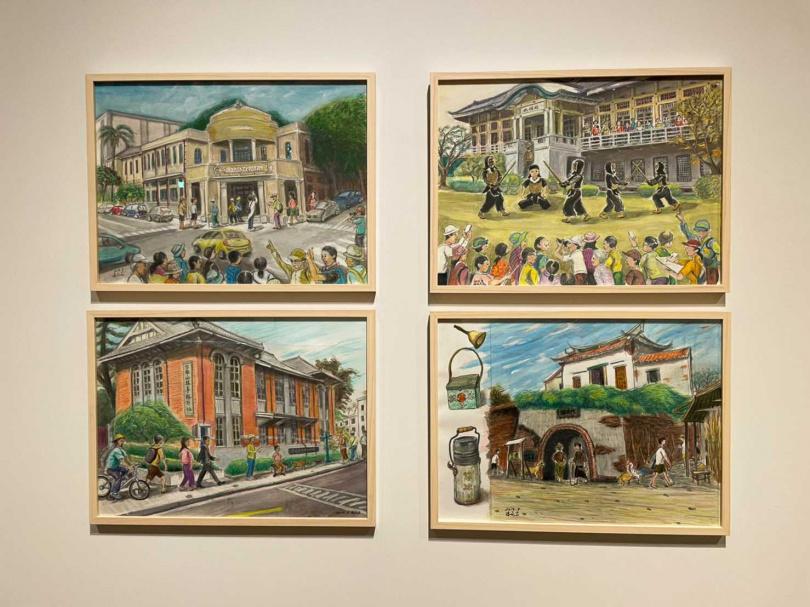 藝術家潘元石首次舉辦個人特展,古蹟系列作品呈現建築的美妙風貌。