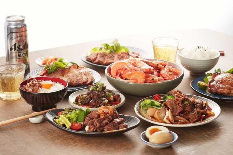 「開動生活」的生鮮選物平台集合包括「開丼」內等多家知名餐飲生鮮與美食。