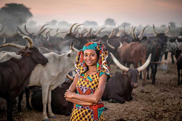 2021年「勞力士雄才偉略大獎」得主:軒杜.奧馬魯.伊布拉欣(Hindou Oumarou Ibrahim),來自查德。(圖╱ROLEX提供)
