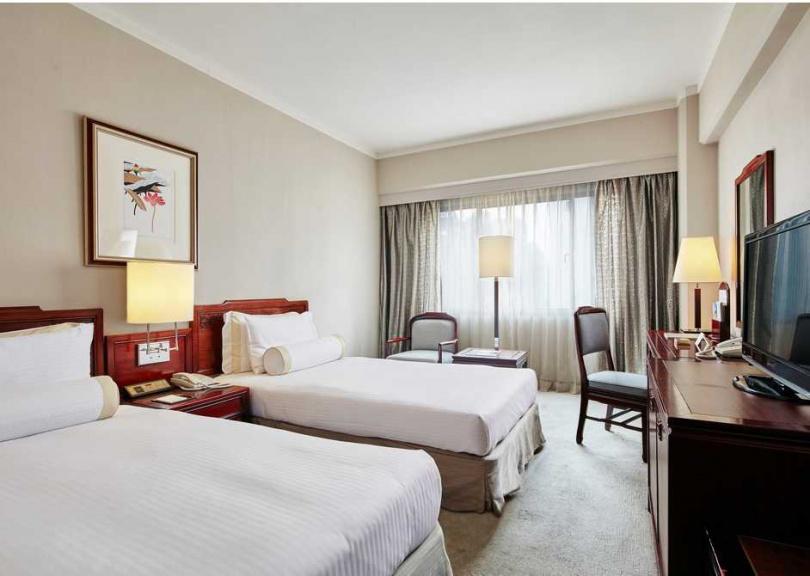 高級雙床房。(圖/台北福華大飯店提供)