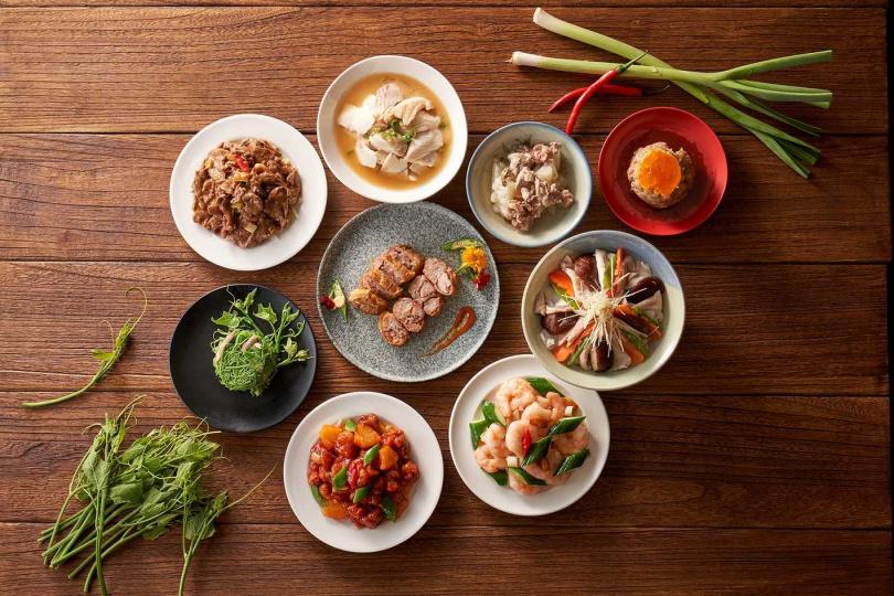 蓬萊邨經典台菜任選6道合菜。(圖/台北福華大飯店提供)