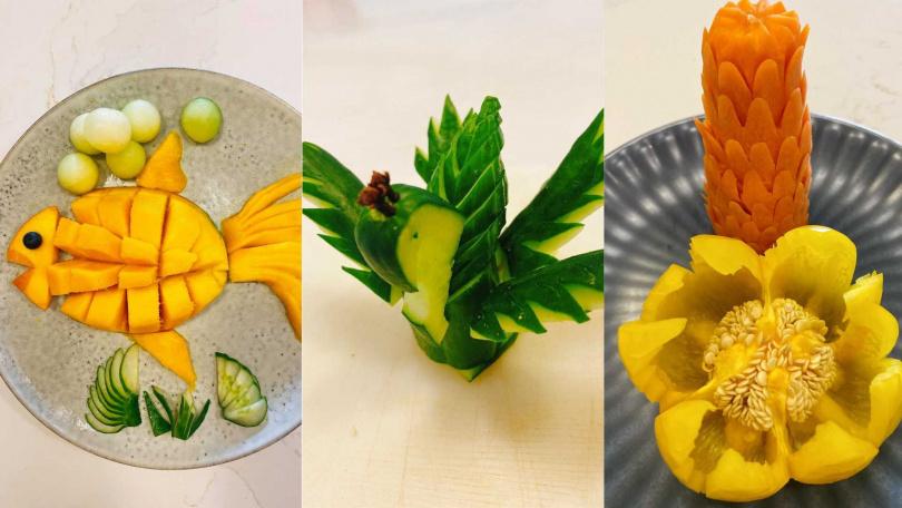 工欲善其事、必先利其器,蔡健雅為蔬果雕刻特地上網買了專用刀組。(圖/翻攝自蔡健雅臉書)