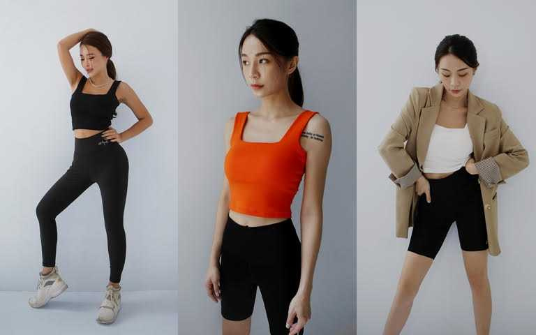 AM ME舒適美胸MIT歐美方領集中BRA TOP/780元  共有橘、白、黑3色,有女生想一次全包色!(圖/品牌提供)