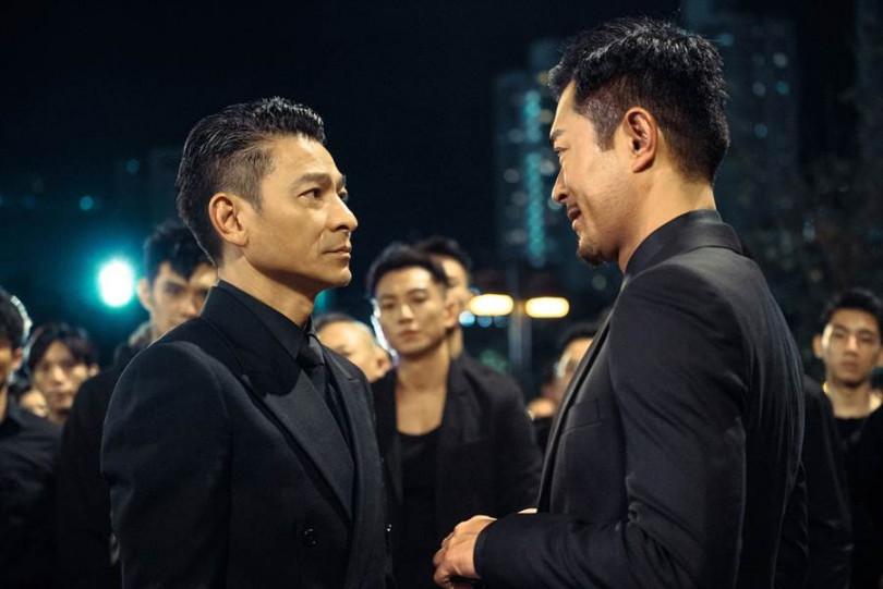 劉德華(左)與古天樂在《掃毒2 天地對決》中一起演出。(圖/華映提供)