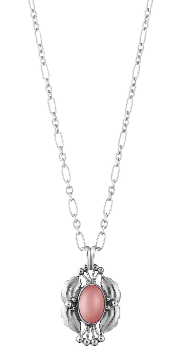 GEORG JENSEN「2000 Heritage年度復刻」純銀石榴晶鍊墜╱8,000元。(圖╱GEORG JENSEN提供)