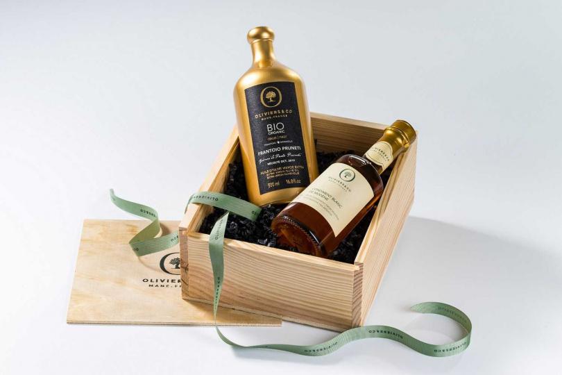 有機禮盒木盒精裝-義大利醇金油醋組。(圖/O&CO. Taiwan提供)