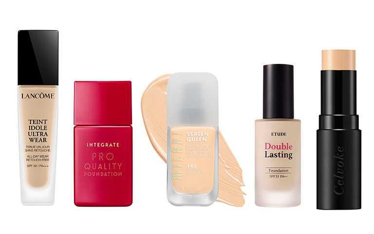 「內含光粉底」隱藏在肌膚裡的光澤,從肌底透出的光感更內斂,肌膚質感也更透亮。(圖/各品牌提供)