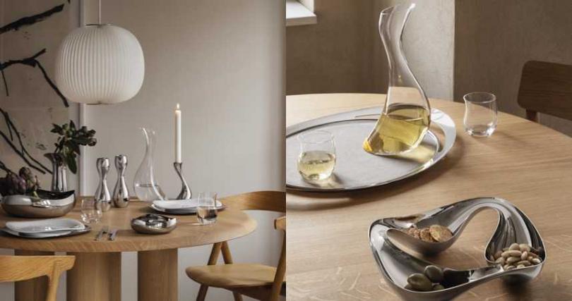 COBRA 系列採用手工鏡面拋光不銹鋼製成,卻擁有流動線條的柔軟。精緻細節與引人注目的線條輪廓,不僅可以完美點綴餐桌,亦是雕塑藝術品。(圖/品牌提供)