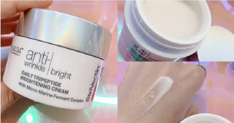 皺效奇蹟皺效極光亮白霜50ml/4,200元不是濃稠乳霜,而是偏水凝霜的輕盈膚觸,很適合接下來的春夏季節。(圖/吳雅鈴攝影)