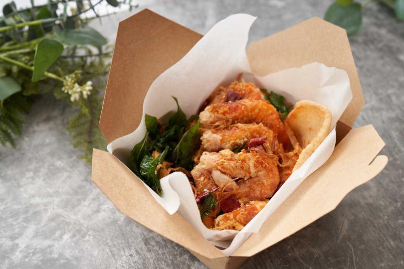 「避風塘白蝦」選用的蝦子,又鮮又肥美,海鮮控必嚐,售價為350元。