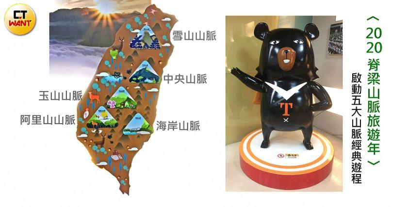 台灣美景五大山脈:中央山脈、雪山山脈、玉山山脈、阿里山山脈、海岸山脈。(圖/楊麗雯攝)
