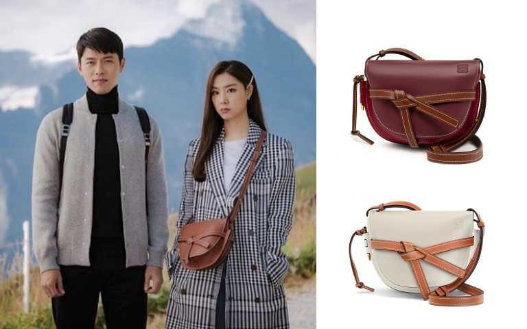 LOEWE Gate Small Bag 紅色小牛皮肩背包/73,000元、Gate Small Bag 白色小牛皮肩背包/73,000元(圖/翻攝自tvN、品牌提供)