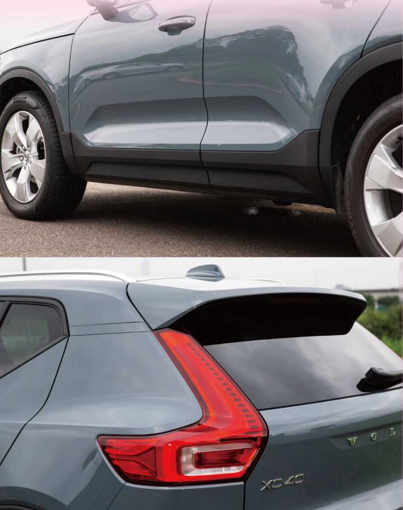 車側的內凹設計,使車體在視覺上更有立體感,車尾的尾翼同樣有畫龍點睛的效果,將車體稍微延伸。(圖/黃耀徵攝)