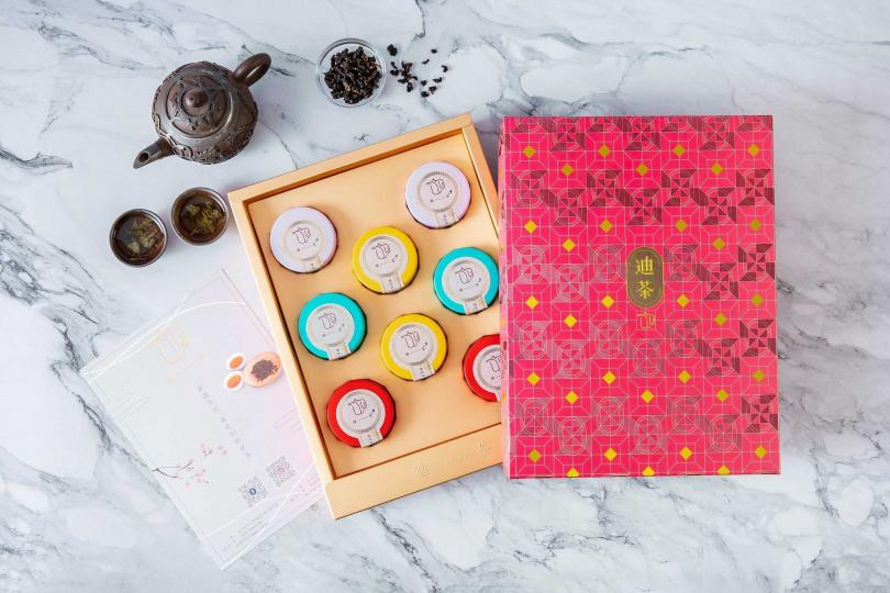 「迪茶精選茶禮盒」每盒售價800元,為高品質的伴手禮!
