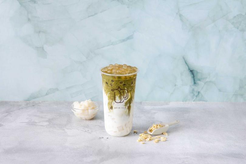 「抹茶珍珠杏仁Q」將台灣豆漿與日本抹茶融合,創意十足!
