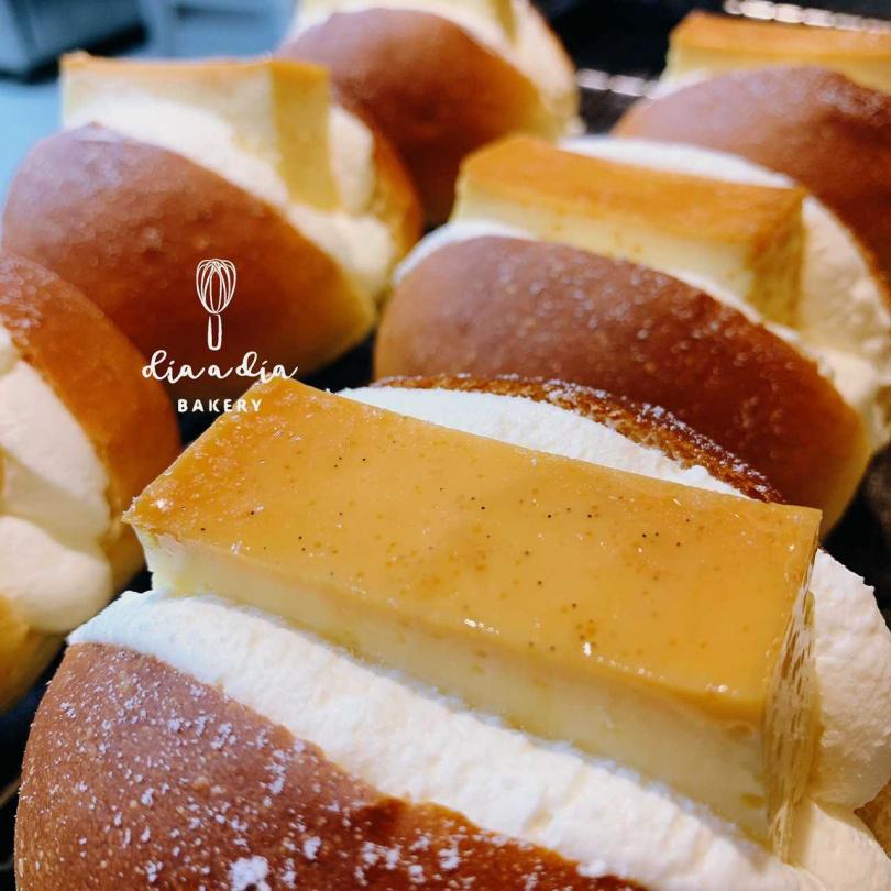 「米蘭硬布丁」生乳包。(60元,圖/穗悅手作烘焙提供)