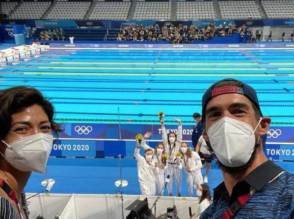 奧運金牌泳將「飛魚」麥可菲爾普斯,今年首次以「NBC評論員」的全新身分,參與2020年東京奧運盛會。(圖╱翻攝自IG@m_phelps00)