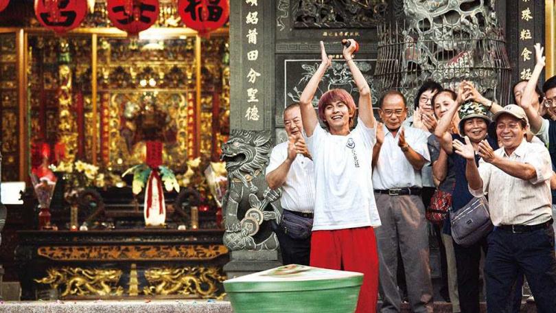 林暉閔在《神之鄉》中演出活潑的陣頭少年,角色性格與沉穩的他落差極大。(圖/東森電視、映畫傳播提供)