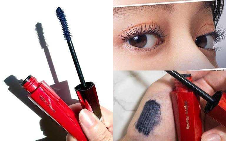 dejavu放肆驚豔纖長色彩睫毛膏 #藍黑限定色/420元  帶有煙燻感的時髦藍灰黑。(圖/品牌提供、IG@iroha_fukuokabz、IG@ari_cosmetico)