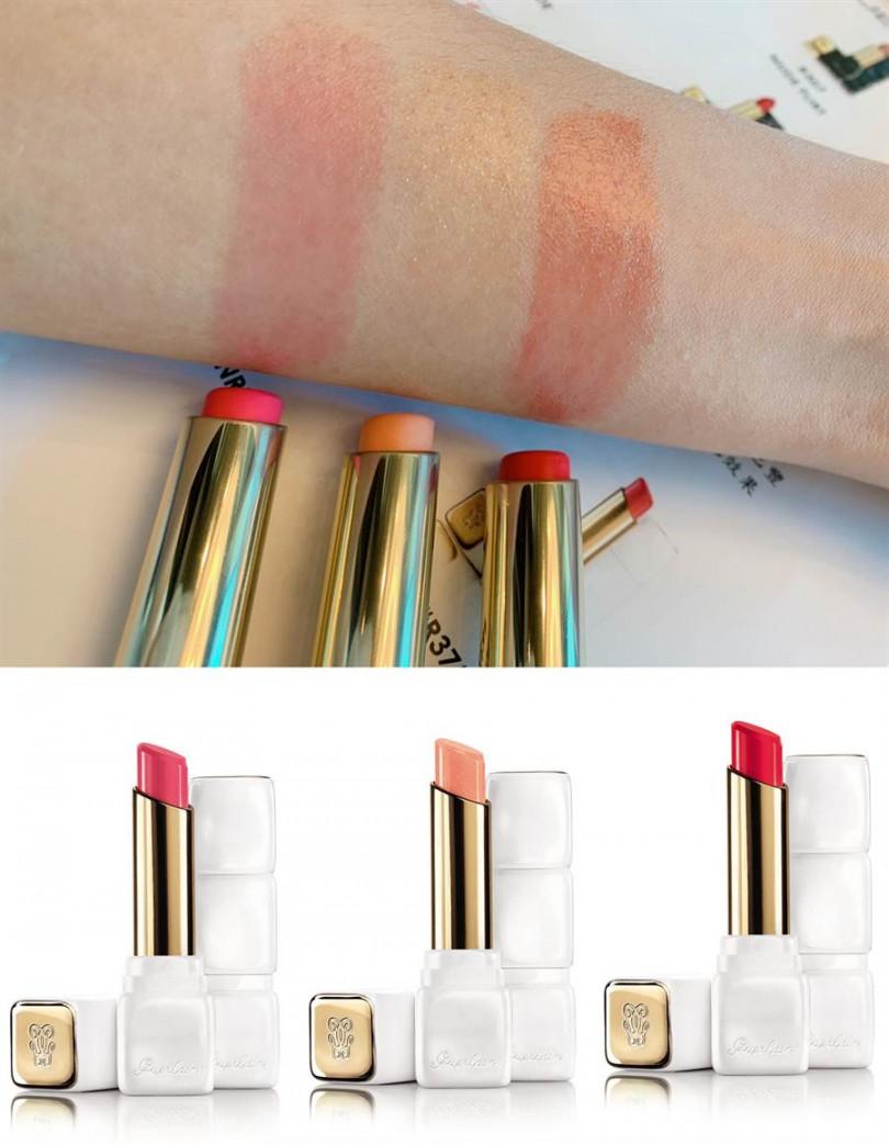 嬌蘭KISSKISS法式之吻玫瑰潤唇膏 全新3色/1,350元  自然中又帶有好氣色的最佳選項就是它了!(圖/吳雅鈴攝影、品牌提供)