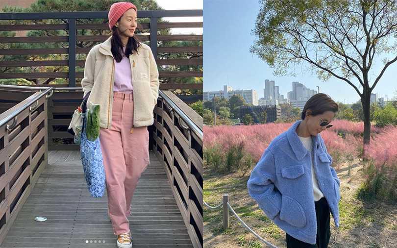 立領或是有領子的款式更年輕,再加上可愛的糖果色系超少女。(圖/moonjungwon IG,nayoungkeem IG)