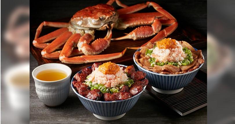 食量沒那麼大及口袋沒那麼深的人,可以選擇松葉蟹牛肋丼或松葉蟹燒肉丼,390元。
