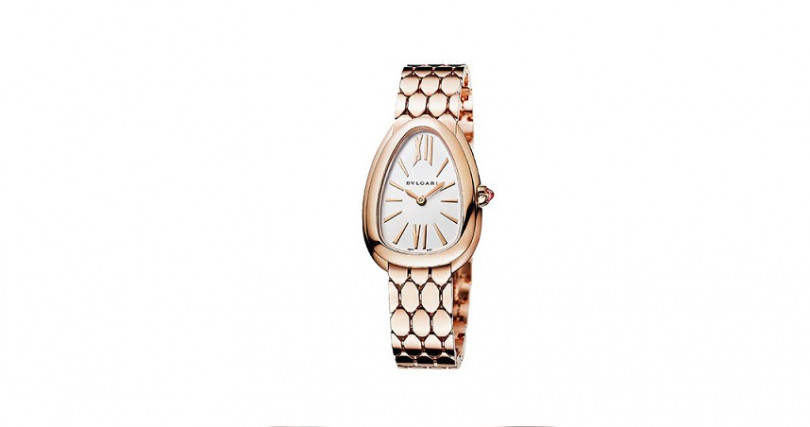 BVLGARISerpenti Seduttori錶殼:玫瑰金材質/錶徑33mm機芯:石英機芯功能:時分雙針防水:30米定價:710,000元