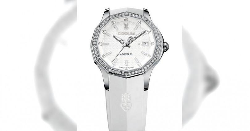 CORUMAdmiral AC-One 38 Automatic錶殼:鈦合金材質/錶徑38mm/錶圈鑲鑽機芯:CO 082自動上鍊/儲能42小時功能:大三針防水:50米定價:265,000元