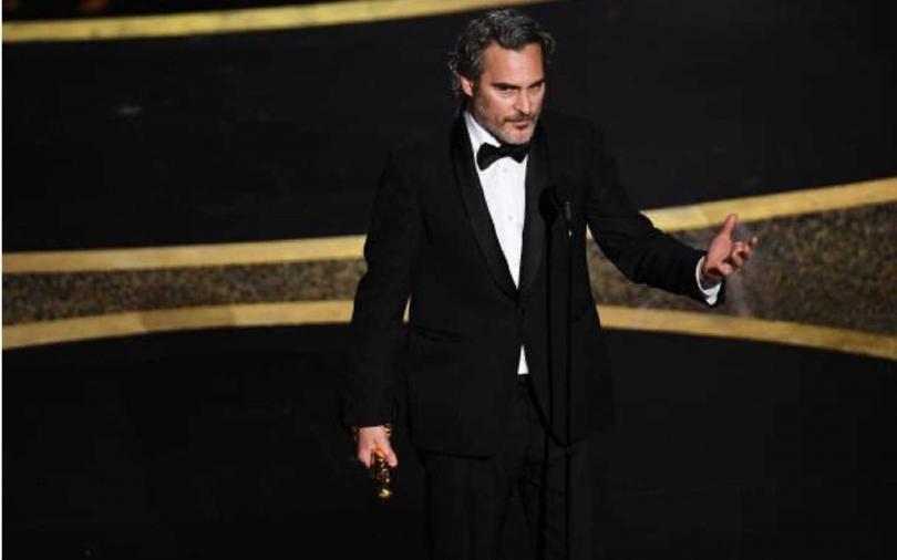 瓦昆菲尼克斯在得獎後,特別在台上感性發言。(圖/達志/美聯社)