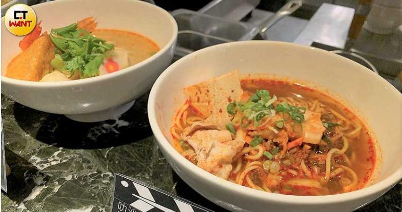 新增自助吧新增「南洋風叻沙麵、 台式擔仔麵、韓式豆腐豬肉麵」及三種風味的現點現做的麵食。(攝影/官其蓁)