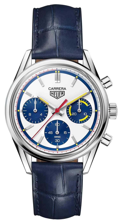 TAG HEUER「Carrera 160周年Montreal限量版」腕錶╱精鋼錶殼,39mm,限量1,000只╱222,100元。(圖╱TAG HEUER提供)