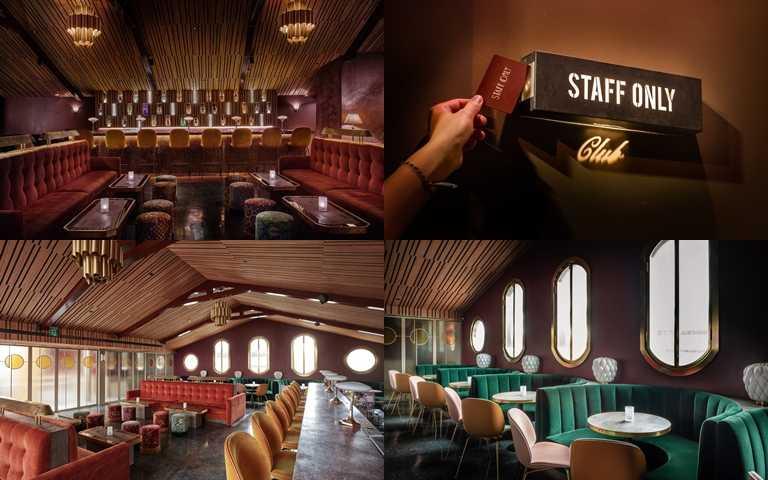Staff Only Club充滿濃厚的復古氣氛,時尚感十分獨特。(圖/Staff Only Club)